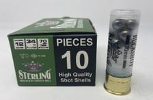 """Sterling 12 Gauge Ammunition STRLG12BUCK 2-3/4"""" 1-3/16 oz Big Game 00 Buck 9 Pellets 10 Rounds"""