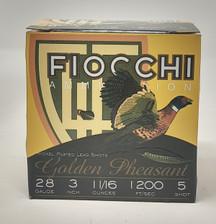 """Fiocchi 28 Gauge Ammunition FI283GP75 3"""" 1-1/16 oz #5 Shot CASE 250 Rounds"""