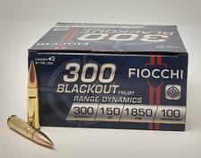 Fiocchi 300 AAC Blackout Ammunition FI300BARD1 150 Grain Full Metal Jacket 100 Rounds