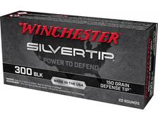 Winchester 300 AAC Blackout Ammunition W300ST 150 Grain SilverTip Defense Ballistic Tip 20 Rounds