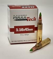 Maxxtech 5.56x45mm NATO M855 Ammunition PTGB556M855 62 Grain Full Metal Jacket Green Tip 20 Rounds