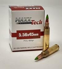 Maxxtech 5.56x45mm NATO M855 Ammunition PTGB556M855 62 Grain Full Metal Jacket Green Tip CASE 1000 Rounds