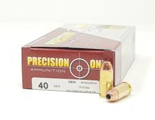 Precision One 40 S&W Ammunition PONE93 180 Grain XTP Hollow Point 50 Rounds