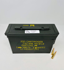 Ten Ring 308 Win Ammunition TR308FMJ150200 150 Grain Full Metal Jacket Ammo Can 200 Rounds