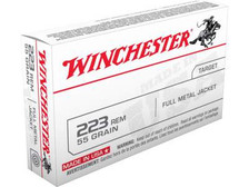 Winchester 223 Rem Ammunition USE223R1L 55 Grain Full Metal Jacket CASE 1000 Rounds