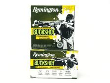 "Remington 12 Gauge Ammunition 12B00A 2-3/4"" 00 Buck 9 Pellets 1325fps 25 Rounds"