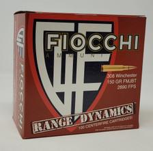 Fiocchi 308 Win Ammunition Range Pack FI308ARD 150 Grain Full Metal Jacket 100 Rounds