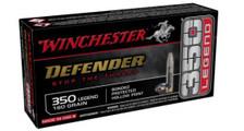 Winchester Defender 350 Legend Ammunition S350PDB 160 Grain Bonded Hollow Point 20 Rounds