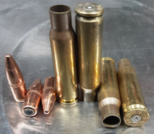 Federal 6.8 SPC Once Fired Brass With 115 Grain Full Metal Jacket Boat Tail Projectiles 68SPCCOMBO Combo Pack 150 Pieces
