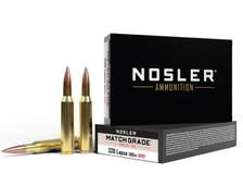 Nosler 338 Lapua Ammunition NOS43136 300 Grain Hollow Point Boat Tail 20 Rounds