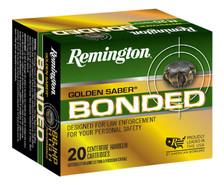 Remington Golden Saber 45 Auto Ammunition GSB45APBB 230 Grain Bonded Brass Jacketed Hollow Point 20 Rounds