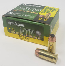 Remington HTP High Terminal Performance 40 S&W Ammunition RTP40SW1A 155 Grain Jacketed Hollow Point 20 Rounds