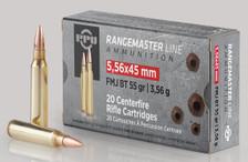 Prvi PPU Rangemaster 5.56x45mm NATO Ammunition PPRM5561 55 Grain Full Metal Jacket 20 Rounds