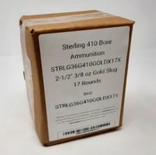"Sterling 410 Bore Ammunition STRLG36G410GOLDX17X 2-1/2"" 3/8 oz Gold Slug 17 Rounds"