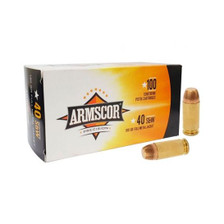 Armscor 40 S&W Ammunition ARM50434 180 Grain Copper Plated Full Metal Jacket 50 Rounds