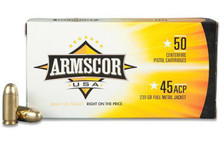 Armscor 45 ACP Ammunition ARM50436 230 Grain Copper Plated Full Metal Jacket 50 Rounds