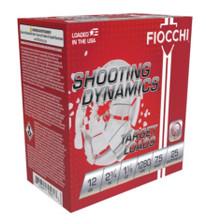 """Fiocchi 12 Gauge Ammunition FI12SDHV75CASE 2-3/4"""" 1-1/8oz #7.5 Lead Shot 1280 FPS CASE 250 Rounds"""