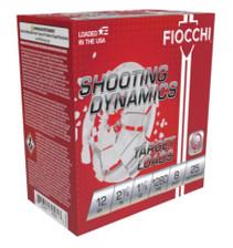 """Fiocchi 12 Gauge Ammunition FI12SDHV8CASE 2-3/4"""" 1-1/8oz #8 Lead Shot 1280 FPS CASE 250 Rounds"""