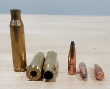 Federal 7mm-08 Brass Once Fired Deprimed With 7mm Soft Point Boat Tail 140 Grain Projectiles 7MM08COMBO Combo Pack 100 Pieces