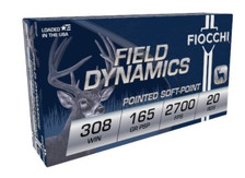 Fiocchi 308 Win Ammunition FI308D 165 Grain Pointed Soft Point 20 Rounds