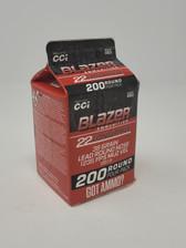 CCI Blazer 22LR Ammunition CCI10019 38 Grain Lead Round Nose Pour Pack 200 Rounds
