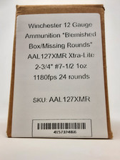 """Winchester 12 Gauge Ammunition *Blemished Box/Missing Rounds* AAL127X Xtra-Lite 2-3/4"""" #7-1/2 1oz 1180fps 24 rounds"""