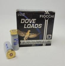"""Fiocchi 12 Gauge Dove Load Ammunition FI12DLS187   2-3/4"""" 1-1/8oz #7 Shot 1375 FPS 25 Rounds"""