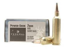 Federal 7mm WSM Ammunition Power-Shok F7WSME 150 Grain Soft Point 20 rounds