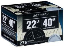 Federal 22LR Ammunition Range Pack F729 40 Grain CASE 2,750 rounds
