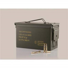 Prvi PPU 5.56mm M855 NATO Ammunition PP56MC 62 Grain Green Tip Full Metal Jacket Ammo Can of 1000 Rounds
