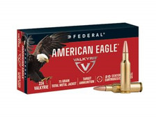 Federal 224 Valkyrie Ammunition American Eagle AE224VLK1 75 Grain Total Metal Jacket Case of 200 Rounds
