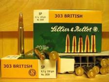 Sellier & Bellot Ammunition 303 British 150 Grain Soft Point SB303B 20 Rounds