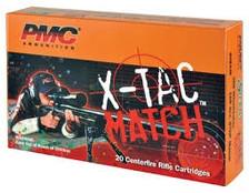 PMC 308 Winchester Ammunition X-TAC Match PMC308XM 168 Grain Sierra MatchKing Open Tip Match 20 rounds
