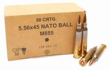 GGG 5.56x45mm NATO Ammunition M855 SS109 62 Grain FMJ Penetrator Steel Core 1000 rounds