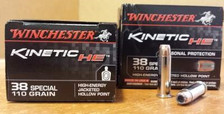 Winchester 38 Special Kinetic Energy HE38JHP 110 gr JHP 20 rounds