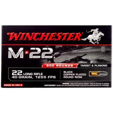 Winchester 22LR M22 40 gr Black Copper Plated Round Nose 800 rounds