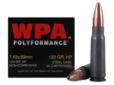 Wolf 7.62x39mm 123 gr HP 20 rounds