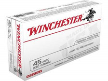 Winchester 45 Auto Ammunition USA45JHP 230 Grain Jacketed Hollow Point 50 rounds