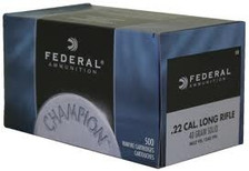 Federal 22LR Ammunition Champion 510 40 Grain Solid Lead Round Nose Brick of 500 Rounds