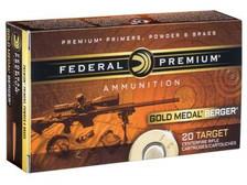 Federal 223 Rem Ammunition Gold Medal GM223BH73 73 Grain Berger Hybrid Open Tip Match 20 rounds