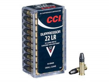 CCI 22LR Suppressor CCI0957 45 gr Lead Hollow Point 50 rounds