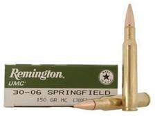 Remington 30-06 Ammunition L30062 150 Grain Full Metal Jacket 20 rounds