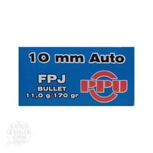 Prvi PPU 10mm Auto Ammunition PPR102 170 Grain Flat Point Jacketed 50 Rounds