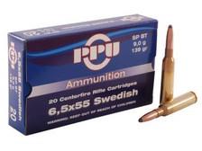 Prvi PPU 6.5x55mm Swedish Mauser Ammunition PP62 139 Grain Soft Point Boat Tail 20 Rounds