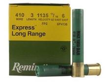 """Remington 410 Bore Ammunition Express SP4136 3"""" 11/16 oz #6 Shot 1135fps 25 rounds"""