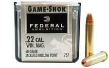 Federal 22 Mag Game-Shok F757 50gr JHP BRICK 500 rounds