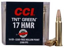 CCI 17 HMR TNT Green CCI0951 16 gr Lead Free Hollow Point BRICK 500 rounds