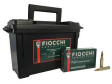 Fiocchi 308 Win Ammunition FI308FA 150 Grain Full Metal Jacket Plano Ammo Can 180 rounds