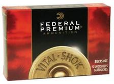 "Federal 20 Gauge Ammunition P2563B 2-3/4"" 1100fps #3 Buckshot 20 Pellets 5 rounds"