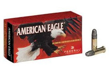 Federal 22LR Ammunition American Eagle AE5022 40 Grain Lead Round Nose High Velocity 50 Rounds
